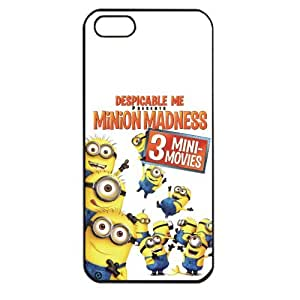 Despicable Me Minions Apple iPhone 5 TPU Soft Black or White case (Black) by supermalls