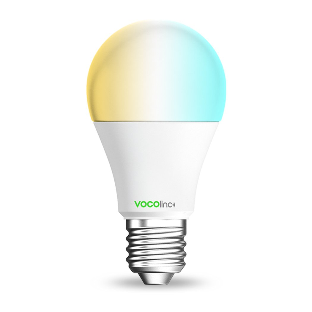 VOCOlinc L2 Smart LED Light Bulb (A19), 2200K-7000K Tunable Cool to Warm Whites, Adjustable, Dimmable, Works with Apple HomeKit, Alexa and Google Assistant, No hub required, Wi-Fi 2.4GHz (1 Pack)