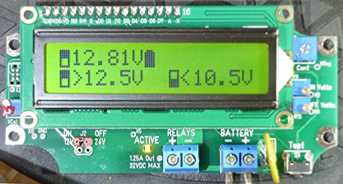 1 Universal Relay Voltage Triggered Load Controller With Out/NO DELAYS, Circuit Board Only! LVD HVD 1URVTLC-1224-BSD (Green LCD)