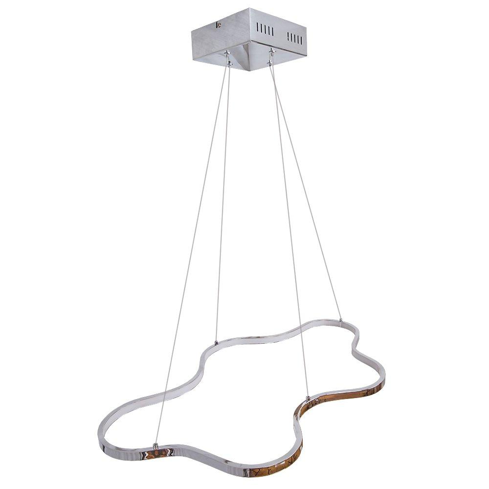 Lu-Mi® LED Pendelleuchte Höhenverstellbar Küchen Deckenleuchte Wohnzimmer Designleuchte Deckenlampe Schlafzimmer Modern (Sunset Riyal)