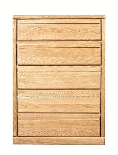 Forest Designs Bullnose Golden Five Drawer Chest: 34W x 48H x 18D 34w x 48w x 18d Black Oak (Chest Golden 5 Oak Drawer)