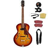 Godin 5th Avenue Kingpin P90 Jazz-Style Acoustic Electric Guitar Bundle,...