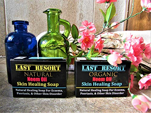 Natural and Organic Skin Healing Neem Soap for Eczema, Psoriasis, Dermatitis, and other Skin Disorder - Neem Treatment Healing