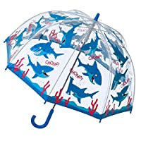 Bugzz Clear Dome Birdcage Kids Shark Umbrella