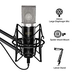 "TC-2030 is TONOR's latest condenser microphone, featuring audio high reproduction and noise reduction.  With ""plug & play"", it is ideal for podcasters, music lovers and video creators.  The TC-2030 comes in a pack of all of the accessorie..."