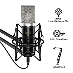 """TC-2030 is TONOR's latest condenser microphone, featuring audio high reproduction and noise reduction. With """"plug & play"""", it is ideal for podcasters, music lovers and video creators. The TC-2030 comes in a pack of all of the accessories you ne..."""