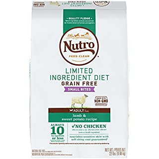 NUTRO Limited Ingredient Diet Small Bites Adult Dry Dog Food Lamb & Sweet Potato Dog Kibble, 22 lb. Bag