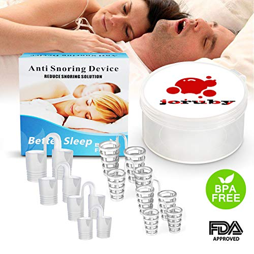 Joruby Anti Snoring Devices - Snoring Solution Snore Nasal Dilators - Nose Vents Clip Snore Stopper to Ease Breathing and Snoring for Natural and Comfortable Sleep