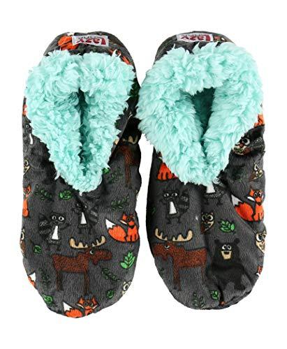Lazy One Fuzzy Feet Slippers for Women, Cute Fleece-Lined House Slippers