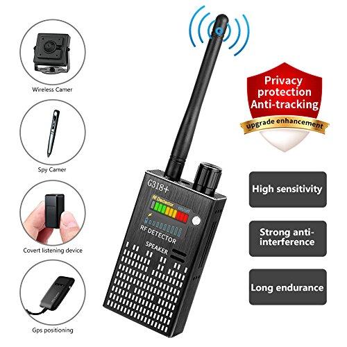 Detector Set - Eilimy Anti-Spy Wireless RF Signal Detector Set [2018 latest upgrade] Bug GPS Camera Signal Detector,for Hidden Camera GSM Listening Device GPS Radar Radio Scanner Wireless Signal Device Finder