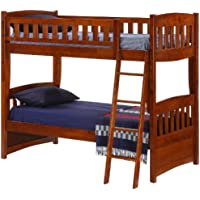 Night & Day Cinnamon Twin Over Twin Bunk Bed Cherry Finish