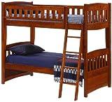 Night & Day Cinnamon Twin Over Twin Bunk Bed Cherry Finish