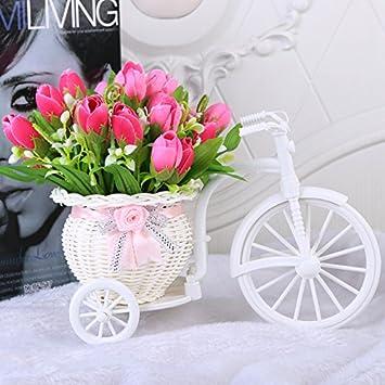 El flotador está recubierto de plástico con un tallo de seda de flores artificiales arreglos florales