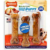 Nylabone Healthy Edibles Puppy Chew Treats, Turkey & Sweet Potato, Regular, 3 Count