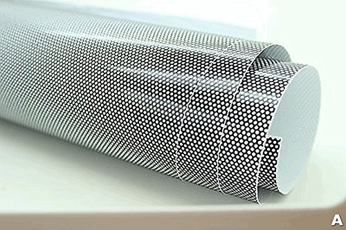 Malla atenuadora negra perforada, tipo ojos de mosca, para faros, aprobada por el Ministerio de Transporte (MOT) de Reino Unido