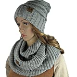Knit Infinity Loop Scarf And Beanie Hat Set, Warm For The Winter Rust By Debra Weitzner
