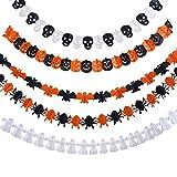Toys : Frienda 5 Set Halloween Paper Garlands Decoration Prop Pumpkin Spider Bat Ghost Skull Shape
