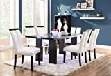 Contemporary Dining Room Tables Coaster Home Furnishings 104561 Contemporary Dining Table, Black