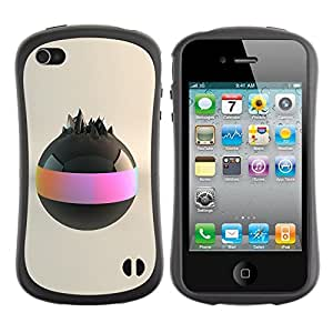 "Hypernova Slim Fit Dual Barniz Protector Caso Case Funda Para Apple iPhone 4 / iPhone 4S [Bola negra""]"