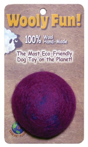 One Pet Planet 86010 2.75-Inch Wooly Fun Ball Dog Toy, My Pet Supplies