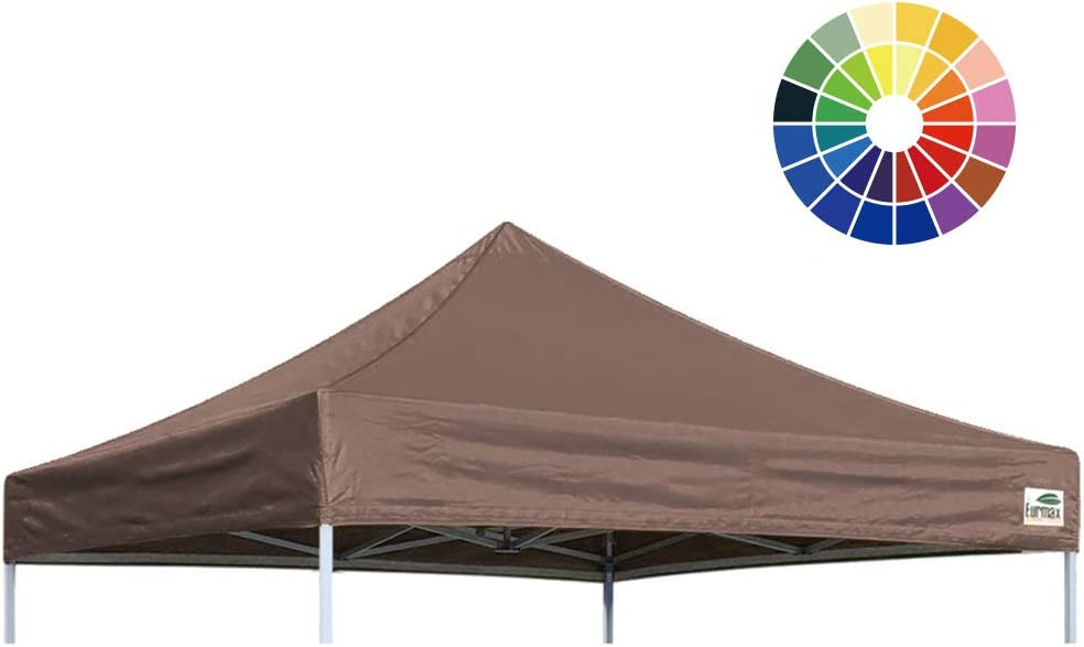 8x8, Blue Eurmax New Pop Up Canopy Replacement Canopy Tent Top Cover Instant Ez Canopy Top Cover ONLY