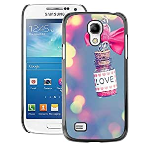 A-type Arte & diseño plástico duro Fundas Cover Cubre Hard Case Cover para Samsung Galaxy S4 Mini i9190 (NOT S4) (Love Lights Blur Pink Meaning Valentine)