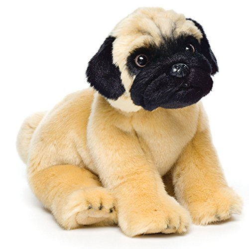 (Small Pug Dog Golden Brown with Black Children's Plush Stuffed Animal)