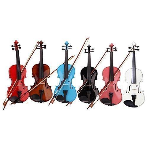 4/4 Full Size Acoustic Violin (Violin + Case + Bow + Rosin) - Random Color