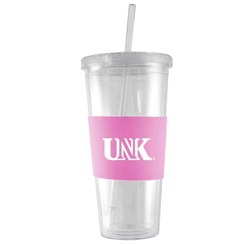 Engraved Silicone Sleeve-Pink Acrylic Tumbler University of Nebraska at Kearney-24 oz