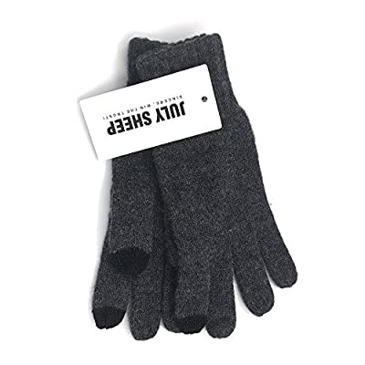 JULY SHEEP 100% Wool Gloves for Touchscreen Winter Touchscreen Gloves Phone Gloves for women & men