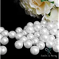 Craft and Party Pearl 1-Lbs loose beads vase filler (18mm, White)