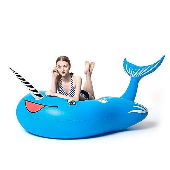 JIA Flotador para Piscina, balsa Inflable Gigante, pontón de ...