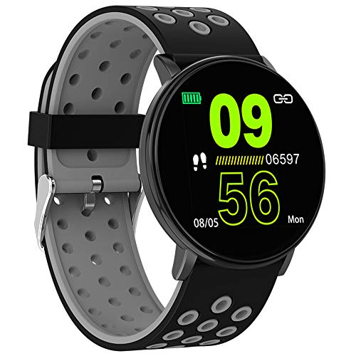 Smart Watch,2.5D Glass Full Touch Screen Fitness Tracker With Sleep Monitor,Ip67 Waterproof,Multi-Sport Mode,Call Reminder,For Men Women