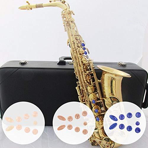 - Sala-Fnt - 3 Sets/Pack Saxophone Buckle Button Gasket Pad Snap Set (Blue + Khaki + Beige) Saxophone Accessories