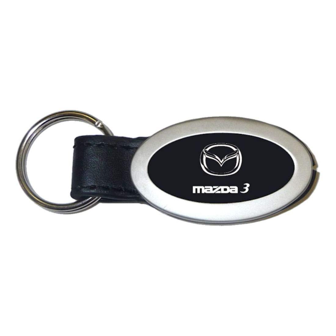 dantegts Mazda3 Mazda 3 Negro Llavero ovalado de piel ...