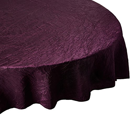 LinenTablecloth Round Crinkle Taffeta Tablecloth, 106