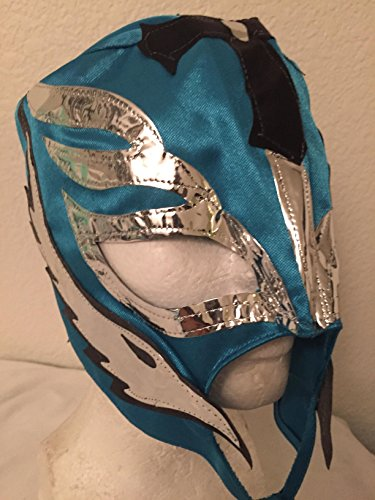 [REY MYSTERIO light blue kids size WRESTLING MASK NACHO LIBRE MASK] (Childrens Nacho Libre Costume)