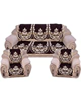 Fresh From Loom 6 Piece Polycotton Sofa Cover Set - Brown