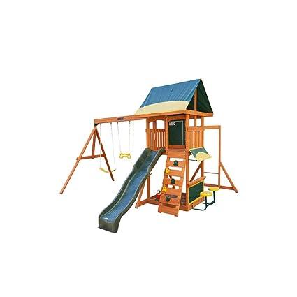 Kidkraft Brightside Cedar Wood Swing Set Playset F23210