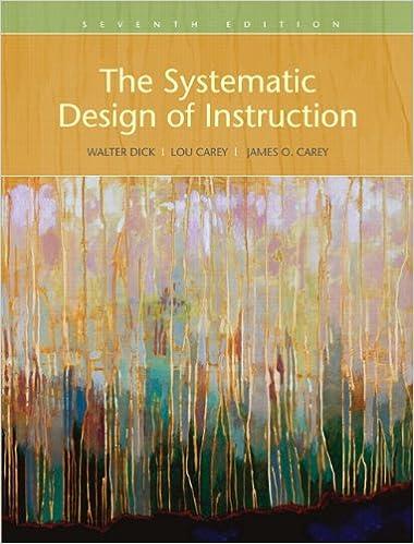 The Systematic Design Of Instruction Dick Walter Carey Lou Carey James O 9780205585564 Amazon Com Books