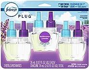 Febreze Plug In Air Freshener Scented Oil Refill, Odor Eliminator, Lavender, 3 Count