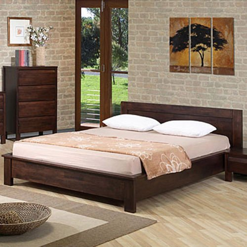 online store 6b6df d8f96 Alsa Queen Platform Bed. This Platform Bed Frame Is Perfect For A Bedroom  Set In Need Of A Touch Of Modern Furniture. The Bed Platform Sits Low And  ...