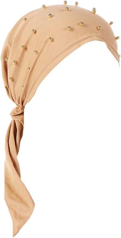 Dwevkeful Turbantes para Mujer Cancer, Pañuelo Unicolor Moda ...