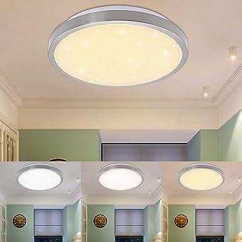 12W LED Deckenlampe Wohnzimmer Lampe Schlafzimmer Leuchte verschiedene 3in1  Farbwechselfunktion Sterneffekt Farbwechsel Lampe