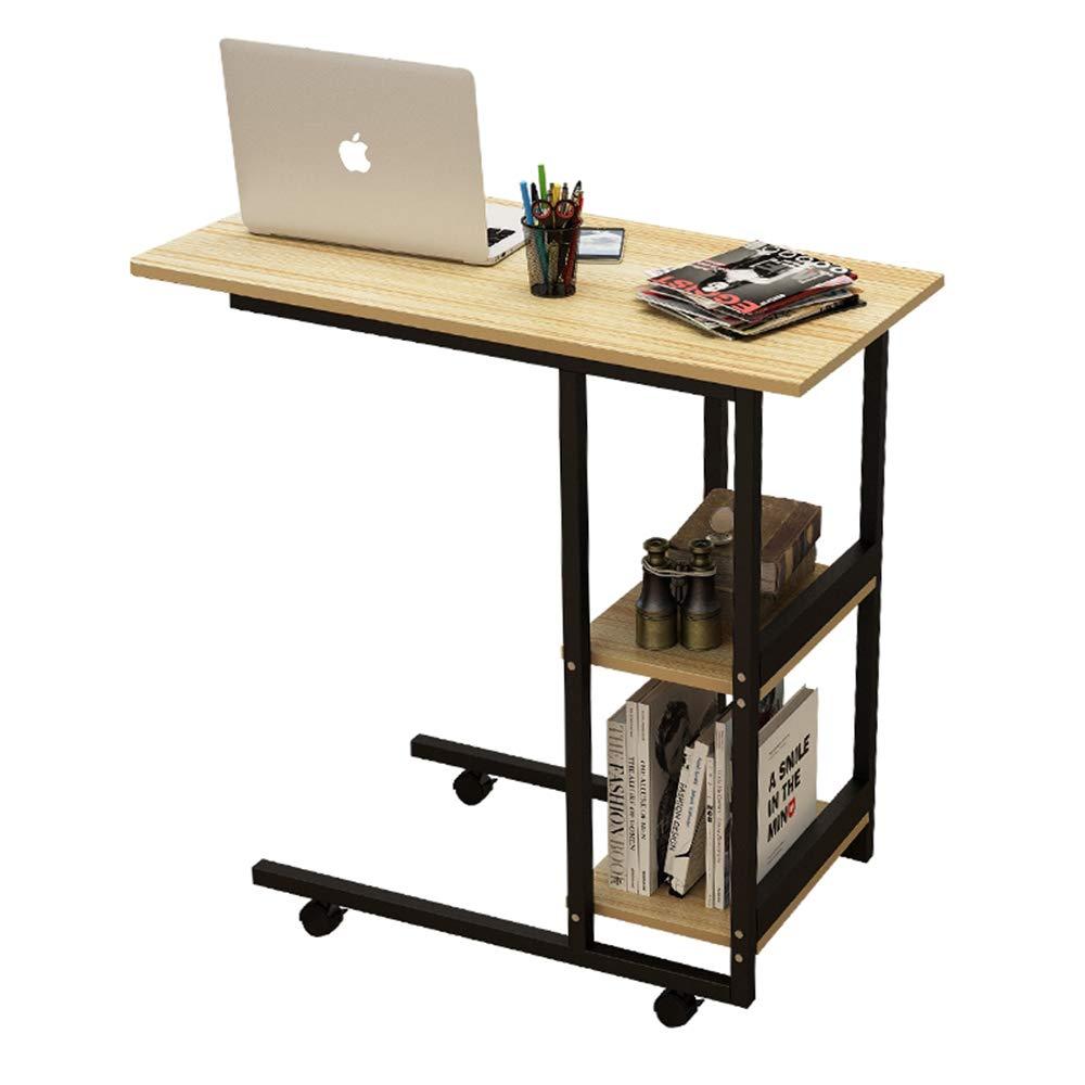 FEI Laptop-Schreibtisch-Snack-Tisch Sofa Couch Coffee End Table Bed Side Betttisch, Sofa Beistelltisch Roll Computerwagen mit Aufbewahrungsregalen (Farbe   1001)