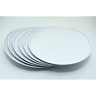 White Nautical Rope Melamine Dinner Plate 11 Inches 6 Pack (6)