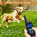 Dog Training Collar with Remote Rainproof Shock Collar 800 Yards Control with Beep Vibration and Harmless Shock No Barking Collar for Small Medium Large Dog