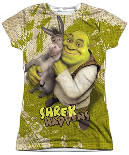 A&E Designs Juniors Shrek Best Friends Sublimation Shirt,
