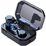 Wireless Earbuds Bluetooth 5.0 in-Ear Stereo Bluetooth Headphones with Microphone Wireless Earphones 15 Hours Playtime, Hands-Free Calls, One-Step Pairing