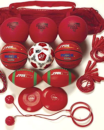 Sportime Recess Equipment Pack, Red, Grade 4